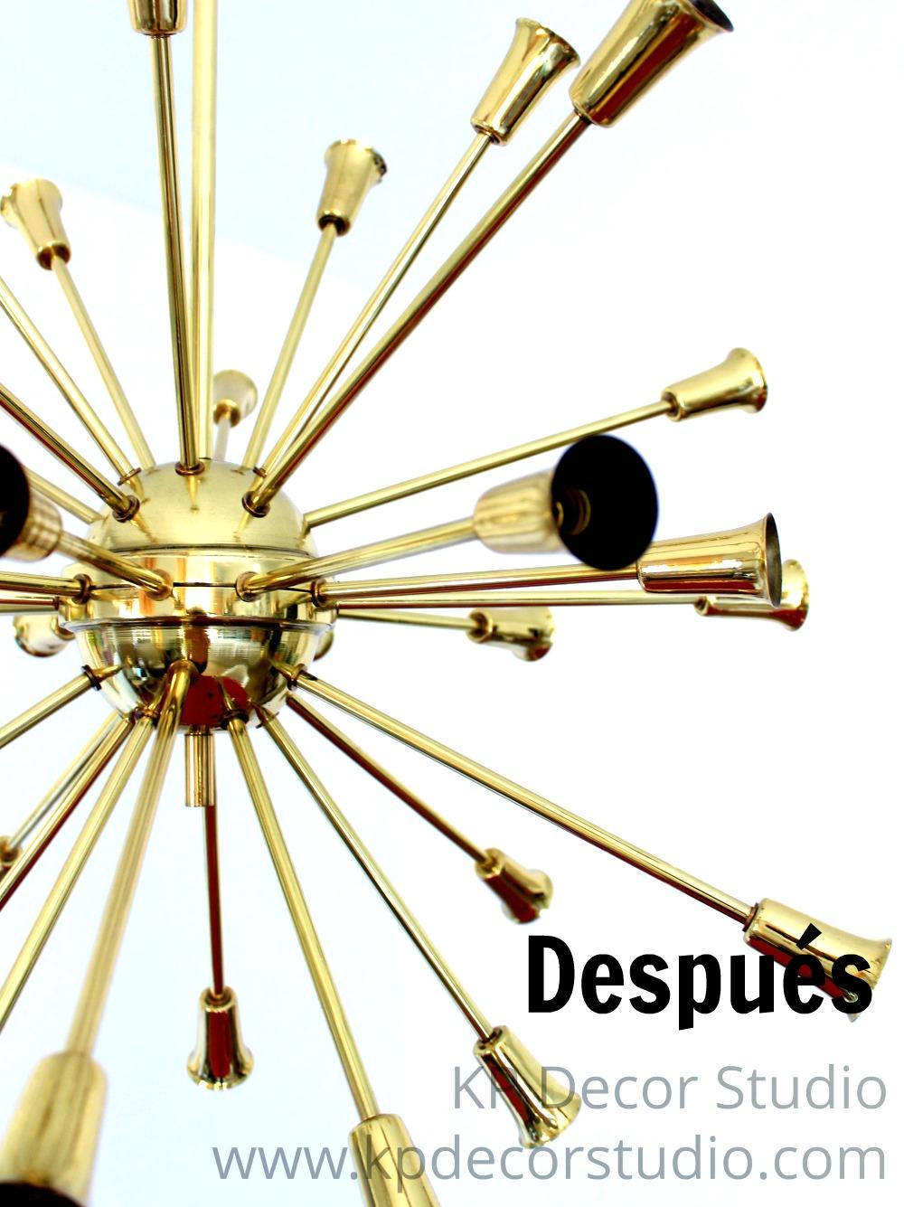 Lámpara colgante sputnik de los años 50