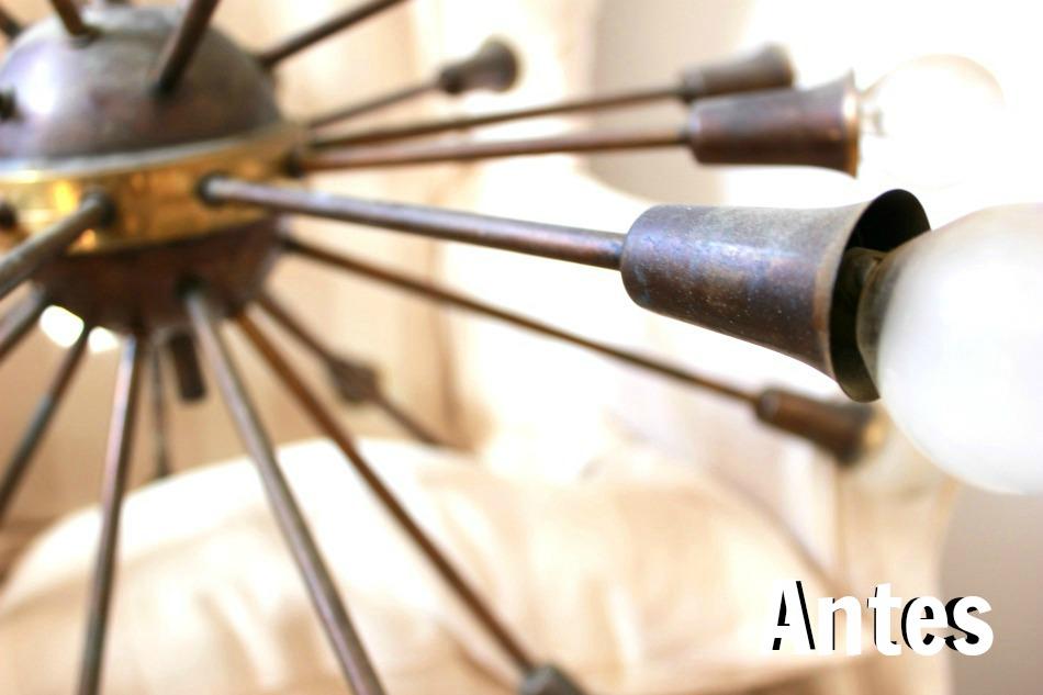 Lámpara techo antigua vintage mid-century