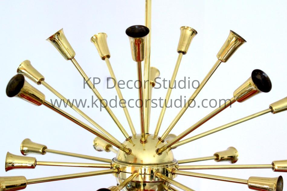 Brass sputnik chandelier by stilnovo. KPdecorstudio, valencia spain