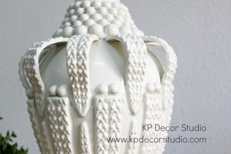 Lampara vintage ceramica