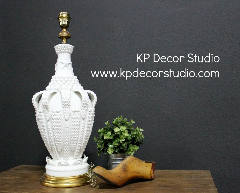 Lámpara de sobremesa de cerámica manises vintage