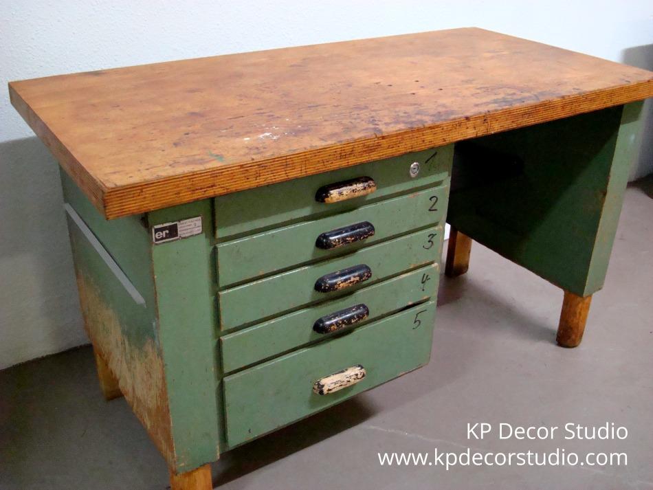 escritorio-cajonera-antigua-industrial-decoración-vintage-valencia