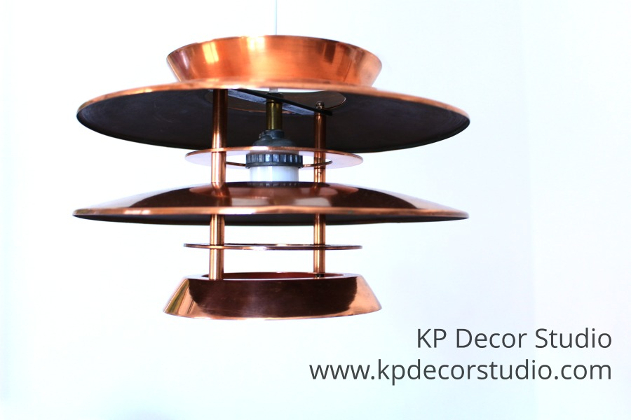 Lámpara colgante de cobre diseño nórdico.