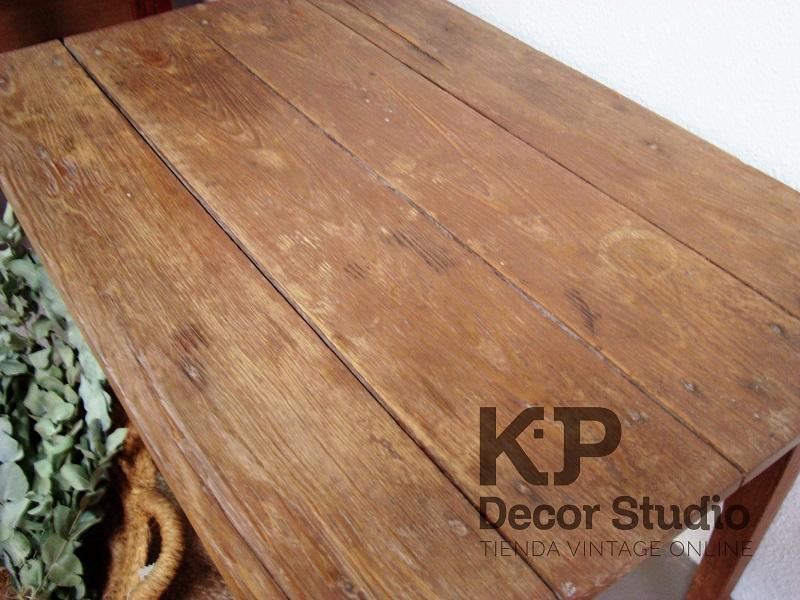 Mesitas madera antiguas vintage